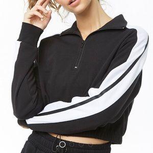 Black & White activewear striped sweatshirt